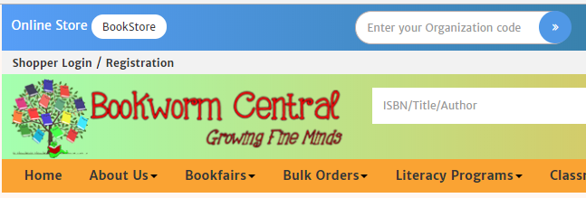 Image of login field at Bookworm Central website