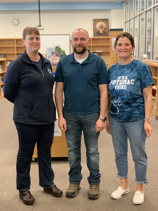 Ms. Cooper (Librarian), Mr. Mears (former LMA), Mrs. Gallitz (Librarian)